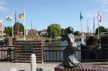 Carolinchen im Museumshafen von Carolinensiel nahe dem Ferienhaus Kolks Carolinensiel Harlesiel